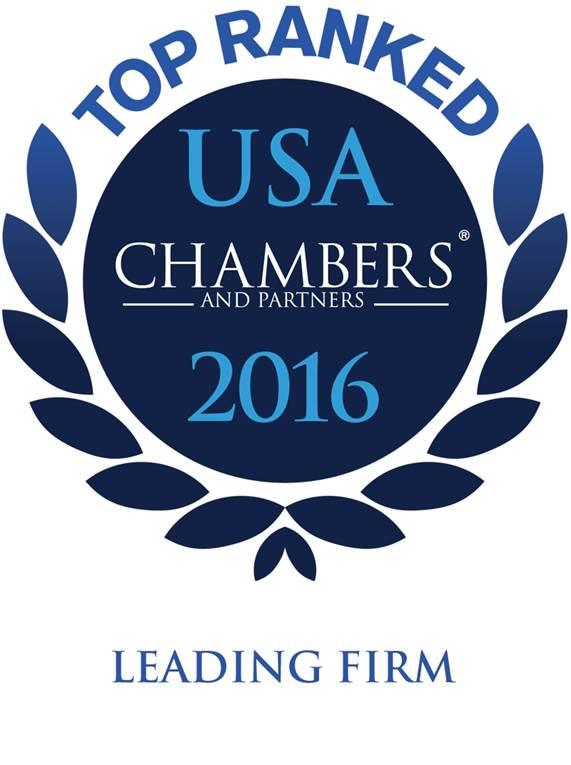 Chambers USA 2016 logo for chicago environmental law firm